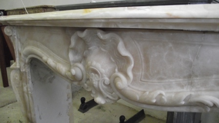 Louis XV Onyx Fireplace