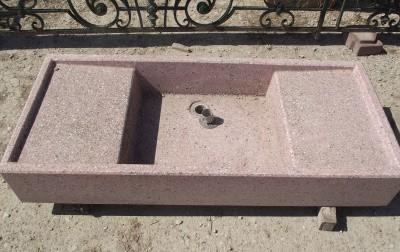 Évier en granito ciment de la moitié du 20e siècle