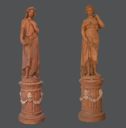 Pair of terracotta statue