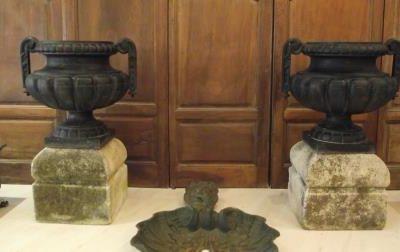 Paire de vases à godrons