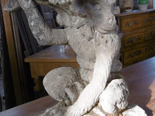 Paire de tabouret en  pierre
